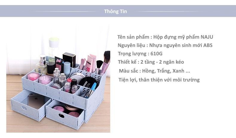 Thông tin sản phẩm hộp đựng mỹ phẩm NAJU