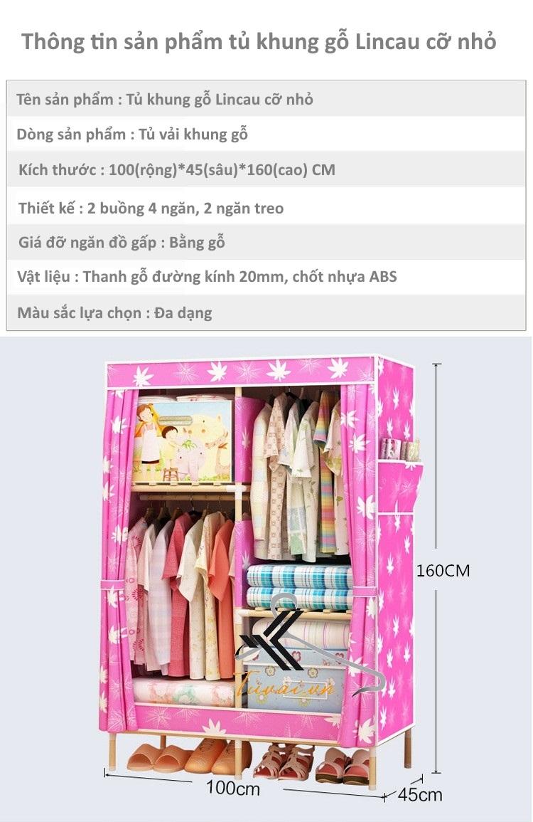 Thông tin sản phẩm tủ khung gỗ Lincau cỡ nhỏ