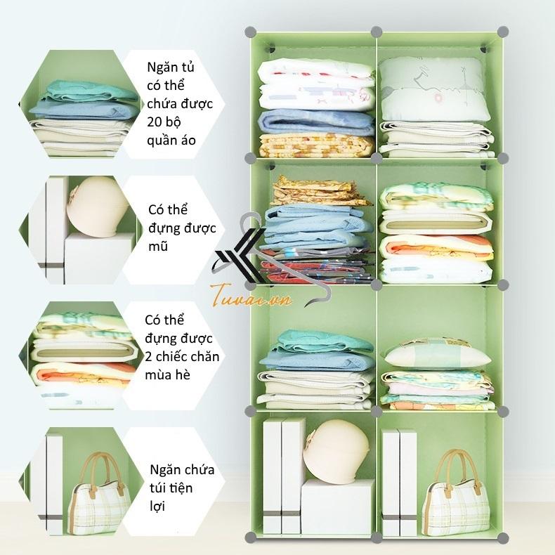 Tiện ích các ô của tủ nhựa lắp ghép