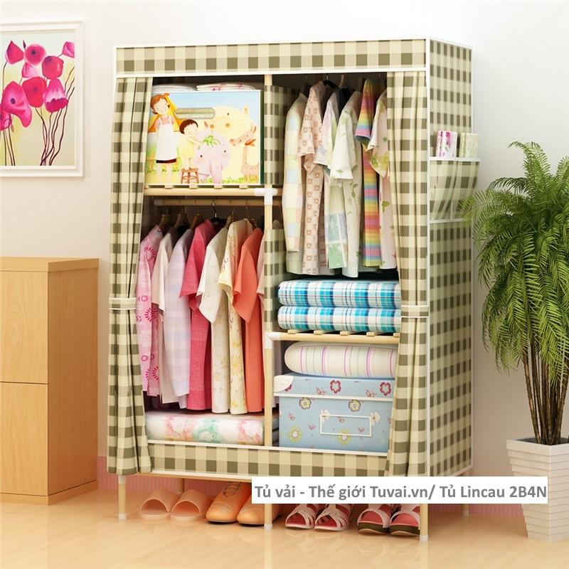 Tủ khung gỗ Lincau màu caro