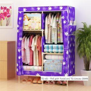 Tủ khung gỗ Lincau màu tím hoa