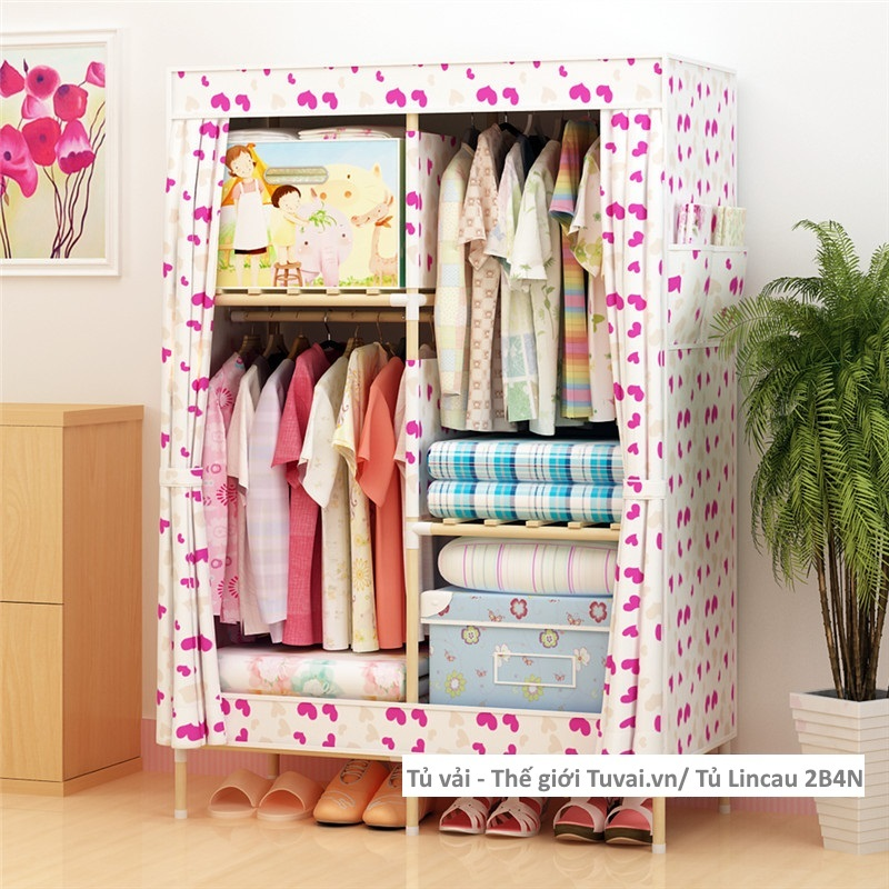 Tủ khung gỗ Lincau màu trái tim
