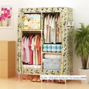 Tủ khung gỗ Lincau màu vàng Micky