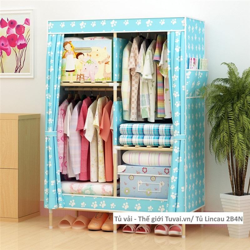 Tủ khung gỗ Lincau màu xanh chân gấu
