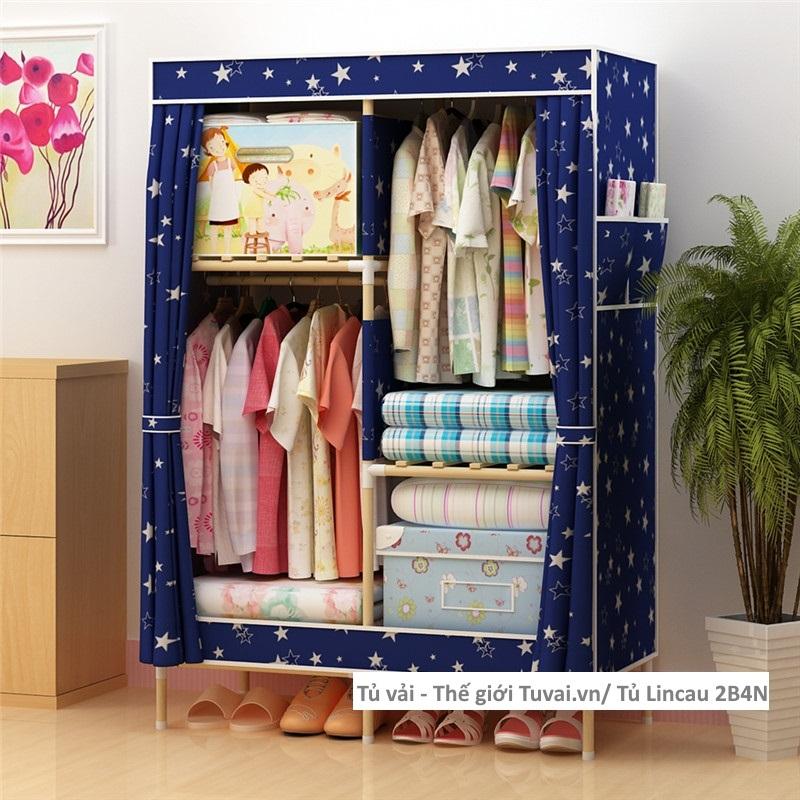 Tủ khung gỗ Lincau màu xanh ngôi sao