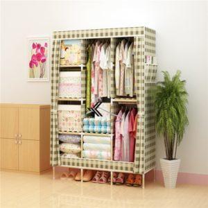 Tủ vải khung gỗ Love House màu caro
