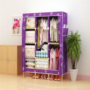 Tủ vải khung gỗ Love House màu tím hoa