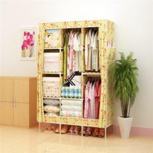 Tủ vải khung gỗ Love House màu vàng