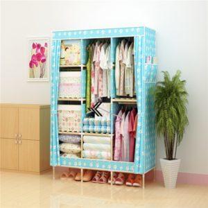 Tủ vải khung gỗ Love House màu xanh chân gấu