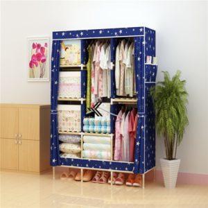 Tủ vải khung gỗ Love House màu xanh galaxy
