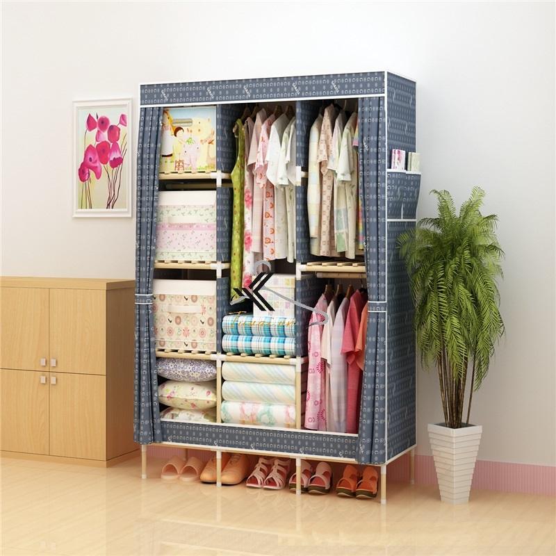 Tủ vải khung gỗ Love House màu xanh lam