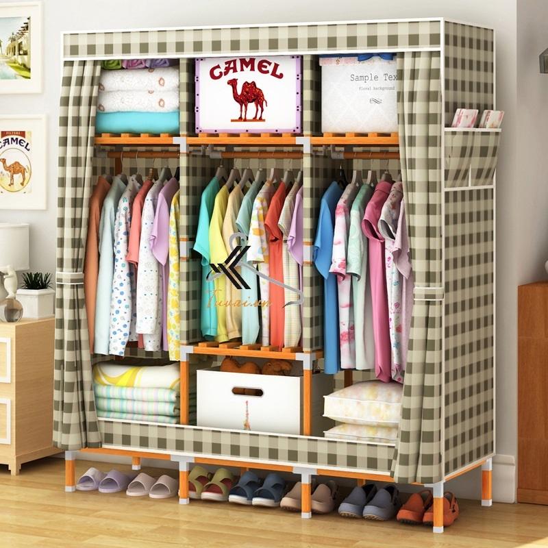 Tủ vải khung gỗ vuông khổ 1m3 màu caro