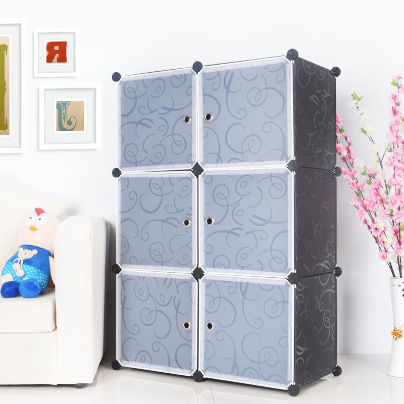 Tủ nhựa lắp ghép Quảng Đông 6 ô màu ghi