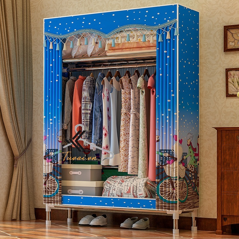 Tủ vải Solno màu xanh dương