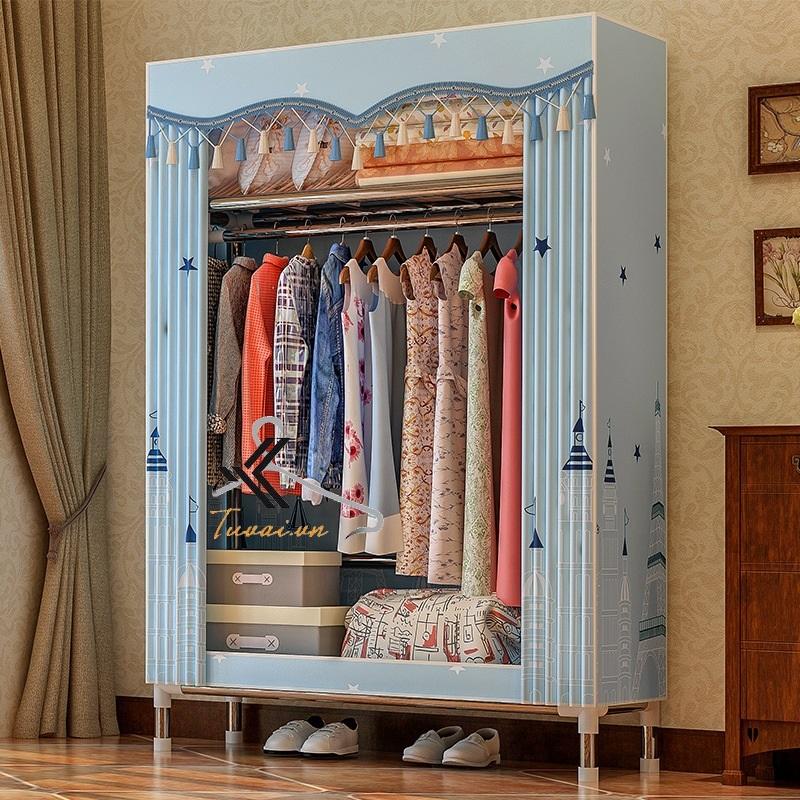 Tủ vải Solno màu xanh nhạt