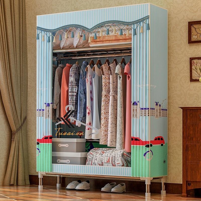 Tủ vải Solno màu xanh sọc