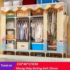 Tủ vải cao cấp Solno kích thước lớn nhất khổ 2m1