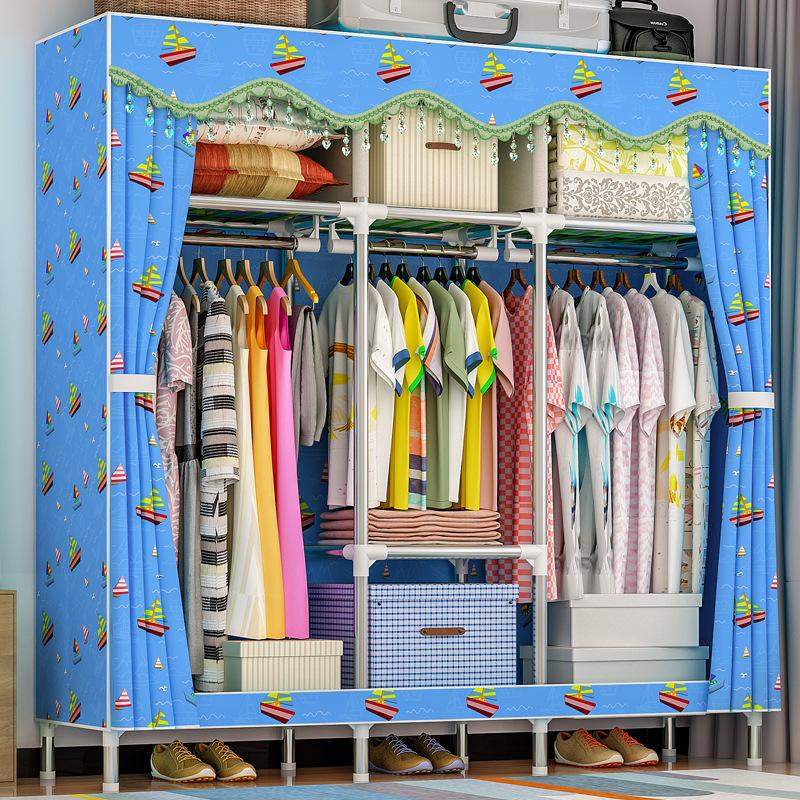 Tủ vải Solno khổ 1m7 màu xanh dương