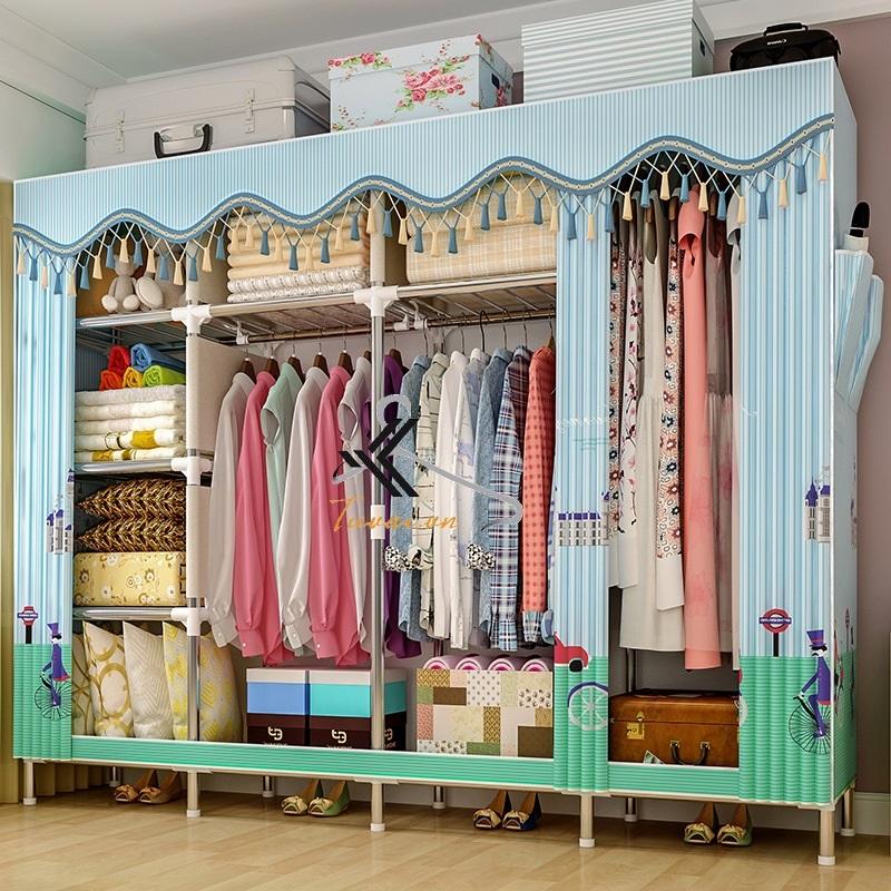 Tủ vải Solno khổ 2m1 màu xanh sọc